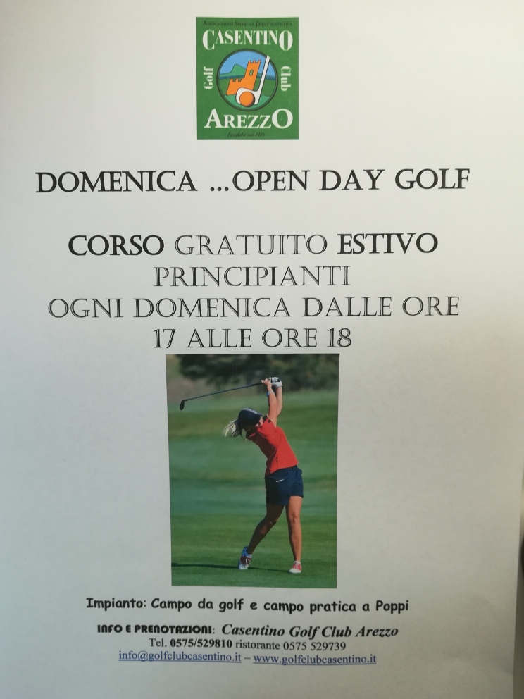 DOMENICA OPEN DAY GRATUITO GOLF 2018